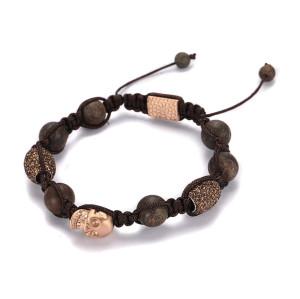 Bronzite Woven Beaded Bracelet