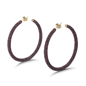 Ruby Big Hoop Earrings