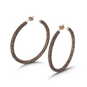 Brown Big Hoop Earrings