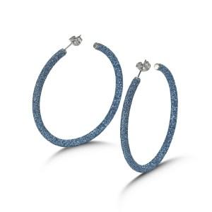 Blue Big Hoop Earrings