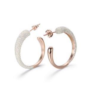 White Beach Hoop Earrings