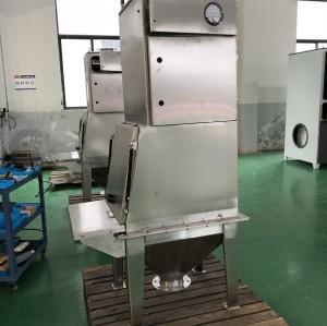 Máquina de despejo de pó manual / estação de alimentação de saco