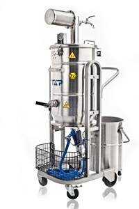 Aspiradora neumática (neumática) de recuperación en seco