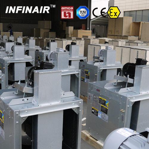 الطرد المركزي مروحة مضمنة للتهوية HVAC مع AMCA / TUV / CE / ATEX الشهادات