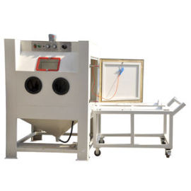 SUCTION TYPE SANDBLASTING MACHINE / MANUAL / ROTATING TABLE