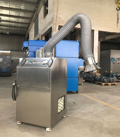 وحدة استخراج دخان محمولة عالية الضغط محمولة للحام ، القطع الحراري ، على المشعل