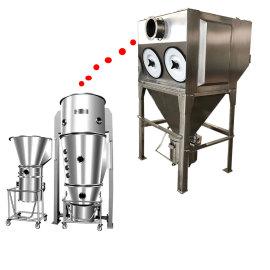 Coletor de pó secundário para leito fluidizado / máquina de secagem