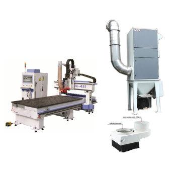 النجارة آلة التوجيه باستخدام الحاسب الآلي جامع الغبار المنشار مستخرج الغبار