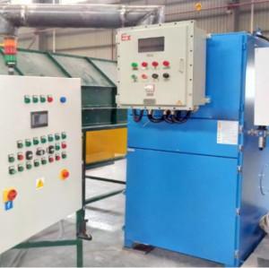 Unidade de filtro de ar anti-explosivo para coletor de pó ATEX de limpeza automática por lastro / pó