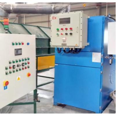 وحدة تصفية الهواء المضادة للانفجار لفرز الصابورة / المسحوق جهاز التنظيف الذاتي جامع الغبار ATEX