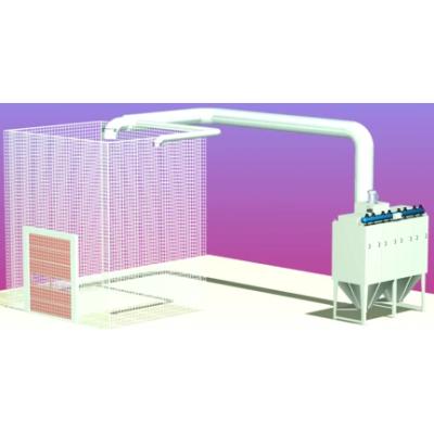 نظام جمع الغبار وتهوية الهواء في غرفة السفع الرملي
