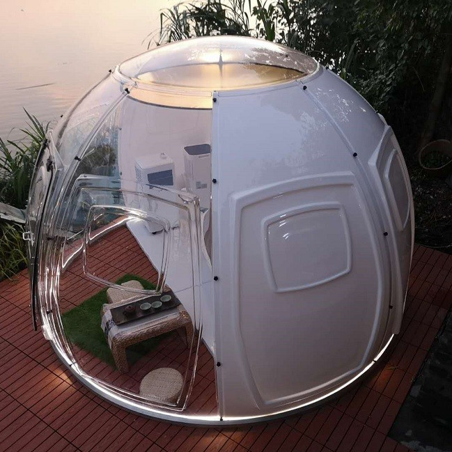 translucent bubble tent