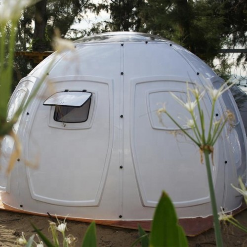 MiicoFun Transparent Bubble Dome Tent,made of PC Panels with windows and door.