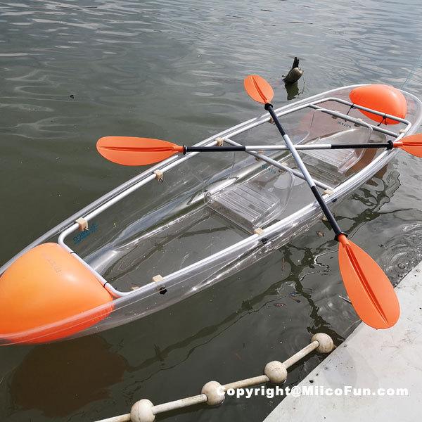 MiicoFun Polycarbonate Transparent Crystal Kayak 1 Person Touring Kayak Clear Bottom Canoe