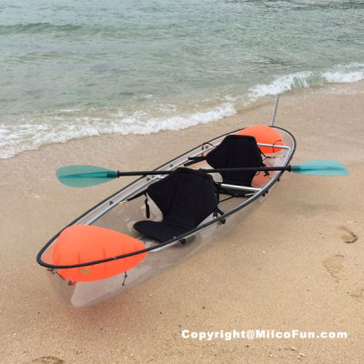 MiicoFun Polycarbonate Transparent Crystal Kayak 2 Person Touring Kayak Clear Bottom Canoe
