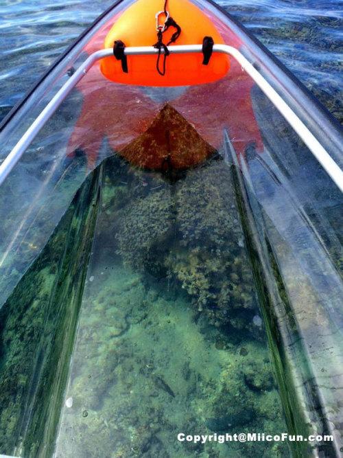 MiicoFun Polycarbonate Transparent Crystal Kayak 2 Person Touring Kayak Clear Bottom Canoe