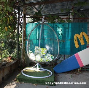 MiicoFun Polycarbonate Bubble Garden Hanging Chair-MF-HC-04