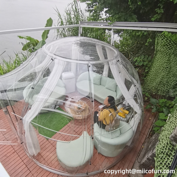 polycarbonate transparent bubble tent