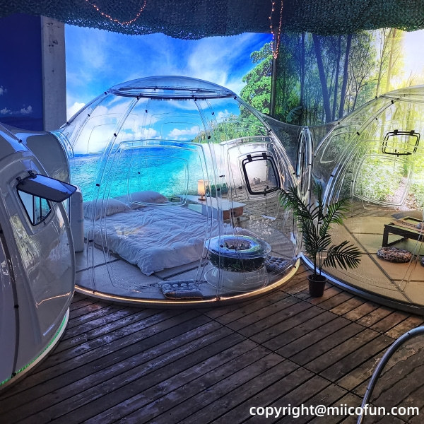 MiicoFun Freely Splicable Transparent Dome Tent