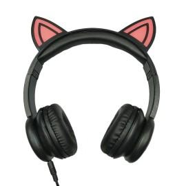 Gift promotion LED OEM fashion animal ears cute children headphones