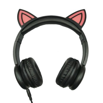 Gift promotion LED OEM fashion animal ears cute children headphones