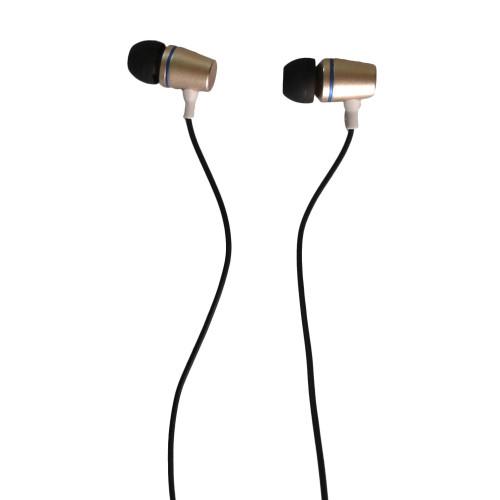 Vente en gros d'écouteurs cadeaux audio métallisés équilibrés ton sur ton