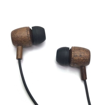 Natural Wood User-friendly Balanced Bass Driven Sound Earphone