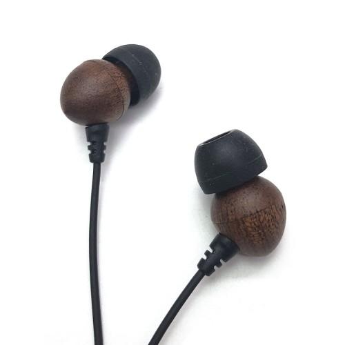 Naturholz Benutzerfreundlicher ausgeglichener bassgetriebener Sound-Kopfhörer