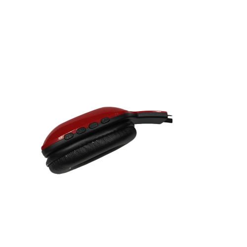 Mode und neues drahtloses, stilvolles, tragbares rotes und schwarzes Bluetooth-Headset