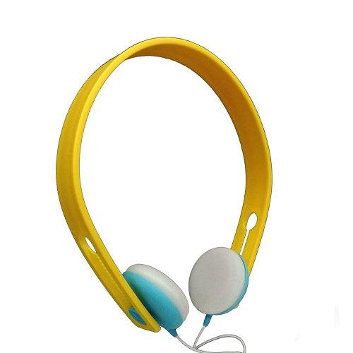 Leichte und leichte Farben tragen Sie bequeme Kopfhörer mit Kopfhörern und lernen Sie Musik