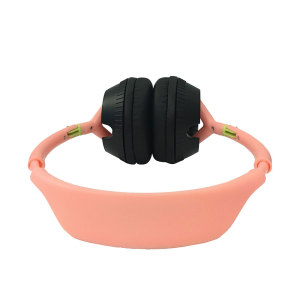 Fashion simple color bilateral rotatable headband wear wired headphone