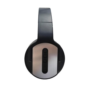 Metallic fashion design 360 degree rotatable circumaural bluetooth headset