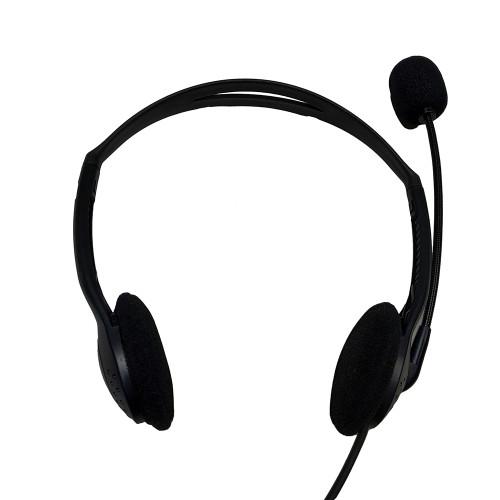 Casque d'écoute de centre d'appels mono économique avec microphone à réduction de bruit