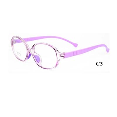 Лучшие красочные модные овальные Full-Rim Гибкие разноцветные детские очки TR90 Оптическая оправа очков