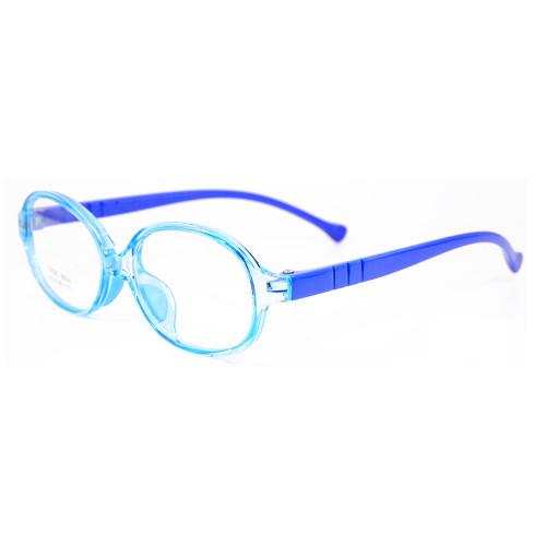 Marco de gafas ópticas para niños con lentes de colores TR90 multicolor de borde completo de la mejor moda