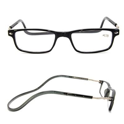 مصنع مخصص جاهز الأسهم TR90 للتعديل الرقبة شنقا نظارات القراءة المغناطيسية للرجال والنساء