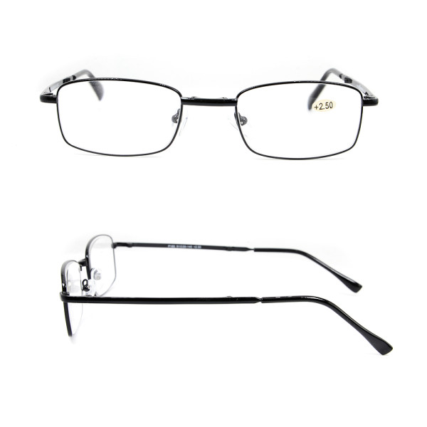 Wholesale Hot sale High Quality Adjustable  small metal wallet folding Reading glasses with packing case