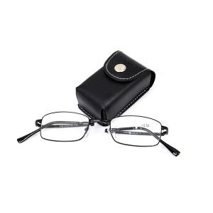 Toptan Sıcak satış Yüksek Kalite Ayarlanabilir küçük metal cüzdan katlanır Okuma gözlükleri ile ambalaj durumda