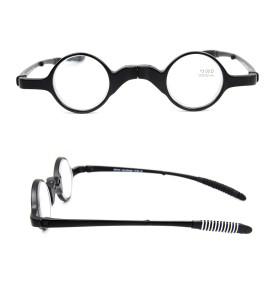 بيع بالجملة ساخنة جديدة بسيطة التصميم الأصلي مخصص نظارات القراءة البصرية قابلة للطي مع القضية
