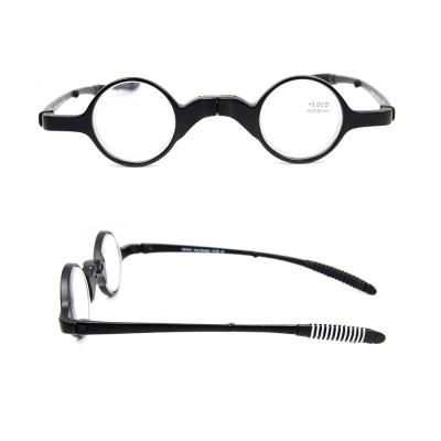 Оптовые продажи горячих новых простых оригинальных нестандартной конструкции складные оптические очки для чтения с футляром