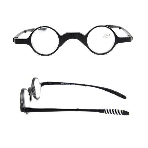 Toptan Sıcak satış Yeni basit Orjinal özel Tasarım Katlanır Optik Okuma gözlükleri kılıf ile