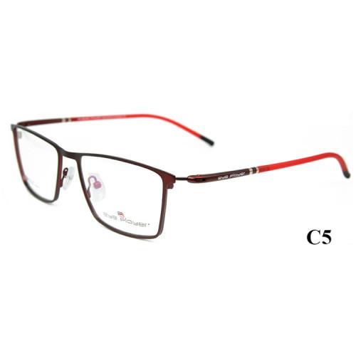 Marcos de gafas ópticos del metal del capítulo del espectáculo de la fábrica durable durable al por mayor de la calidad para los hombres