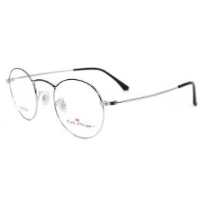 Venta caliente de alta calidad de diseño de moda Marco de gafas de titanio redondo gafas ópticas marcos para adultos