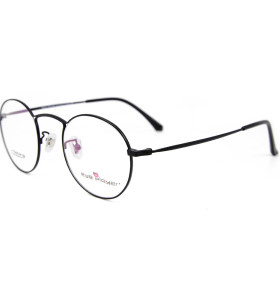 الجملة حار بيع الأزياء نموذج جديد نمط النظارات الإطار التيتانيوم جولة النظارات البصرية إطارات للرجال