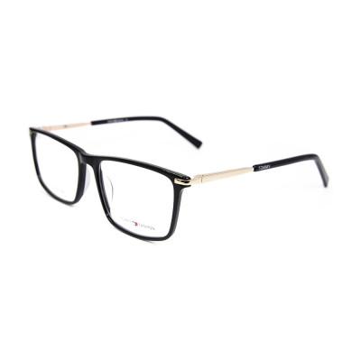 Fábrica personalizada Nuevo modelo de estilo Fashion Acetate Spectacle Frame metal marcos de vidrios ópticos para adultos