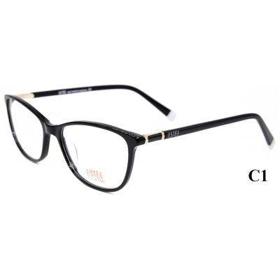Hot selling vogue style the latest model eyewear acetate optical glasses frames with diamond for Ladies