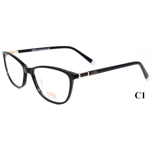 Estilo vendedor caliente de la moda el último modelo de gafas de acetato marcos de gafas ópticas con diamante para damas
