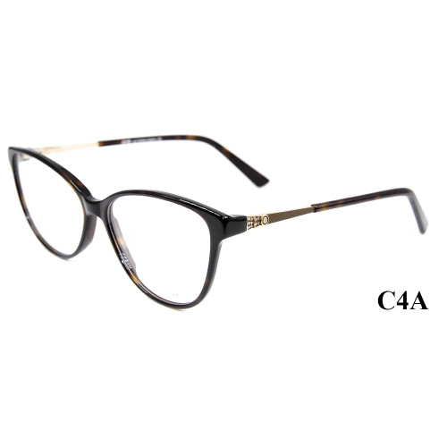 Marco de alta calidad al por mayor de los vidrios ópticos del acetato del diamante de las gafas del estilo de la moda del nuevo modelo para las señoras