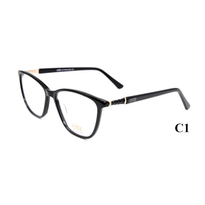 Marcos de encargo al por mayor de los vidrios ópticos del acetato de las gafas del estilo de la moda de la decoración del diamante para las mujeres