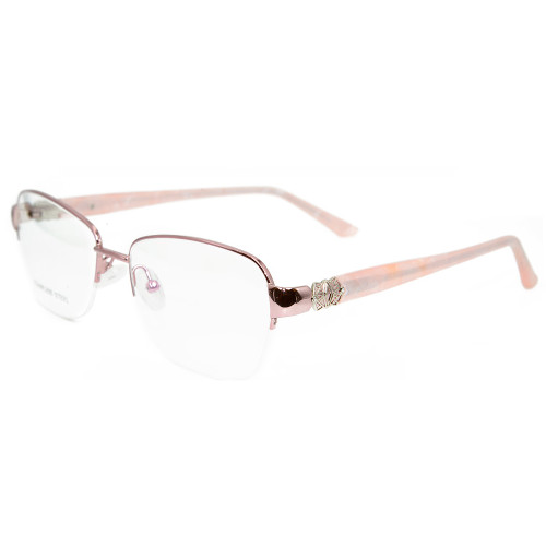 Marco de gafas al por mayor Modelo de gafas de moda al por mayor de metal de moda marcos de gafas ópticas para mujeres